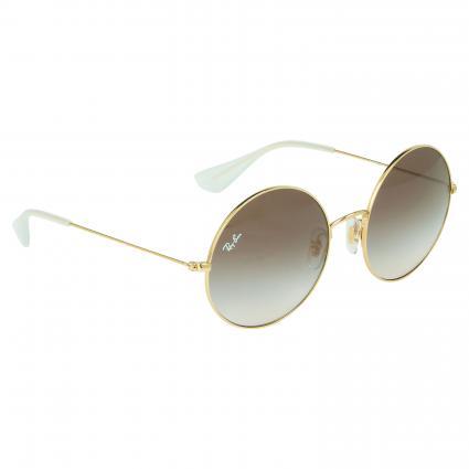 Runde Sonnenbrille mit Metallgestell braun (001/13) | 0