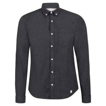 Regular-Fit Hemd mit Stehkragen anthrazit (152 Anthra) | S