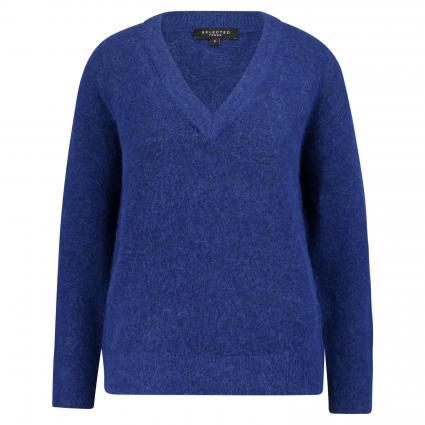 V-Ausschnitt Pullover 'Fanna' blau (CLEMATIS BLUE)   XL