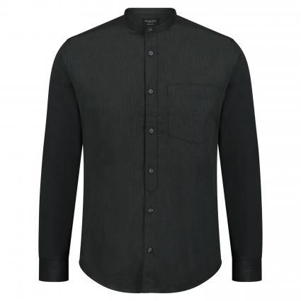 Regular-Fit Hemd mit Stehkragen oliv (Grey) | S