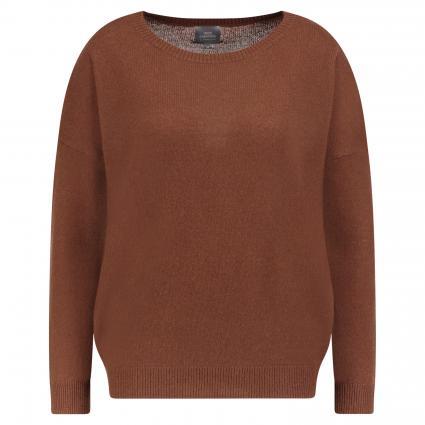 Oversize-Pullover aus Cashmere camel (maroon)   XL