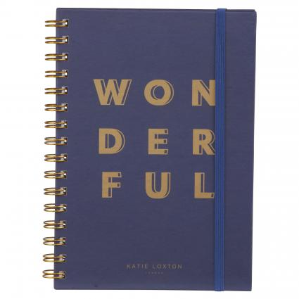 Notizbuch 'Wonderful' marine (NAVY) | 0