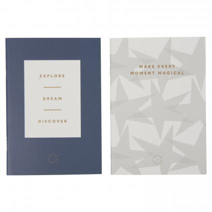 Notizbuch-Set 'Make every Moment magical' marine (NAVY AND PALE GREY) | 0