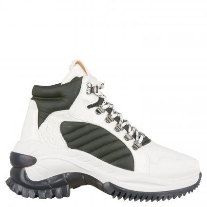 Boots aus Leder ecru (OFF WHITE/KHAKI) | 36