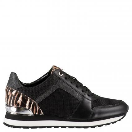 Sneaker mit Leo-Muster schwarz (BLK/GUN) | 7,5
