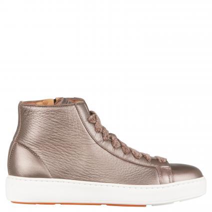 Hightop Sneaker aus Leder gold (P45) | 37,5