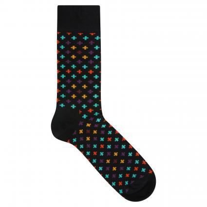 Socken mit Musterung schwarz (9300 plus sock)   41-46
