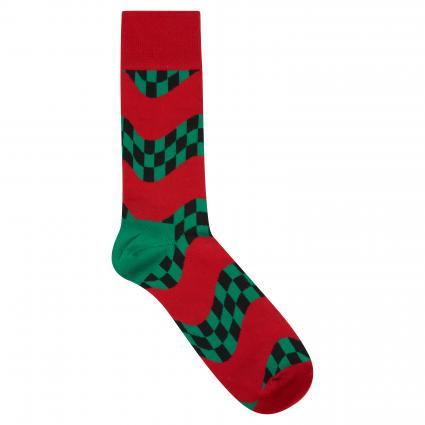 Socken mit Musterung rot (4300 race sock) | 41-46