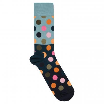 Socken mit Punktemuster blau (6002 big dot block)   41-46