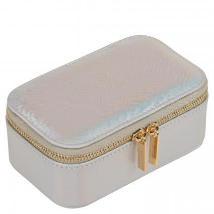 Schmuckbox mit Reißverschluss silber (IRIDESCENT)   0