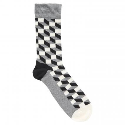 Socken mit Rauten-Muster schwarz (901 filled optic sock) | 36-40