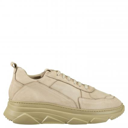 Sneaker aus Leder taupe (NABUC STONE) | 39