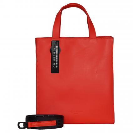 Handtasche aus Leder rot (POPPY RED) | 0