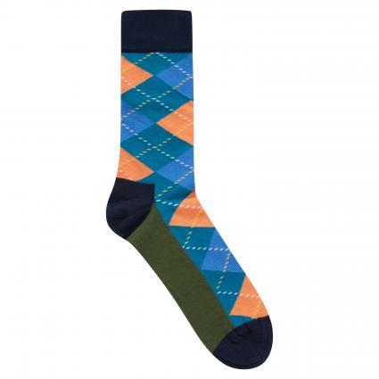 Socken mit Musterung grün (7300 argyle sock) | 41-46
