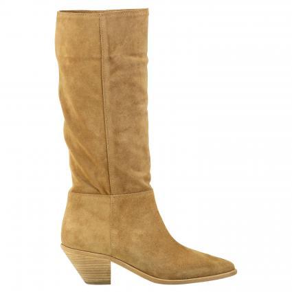 Stiefel aus Veloursleder beige (SAND) | 39
