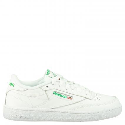 Sneaker aus Leder weiss (WHITE/GREEN)   5