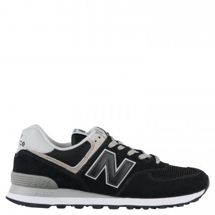 Sneaker aus Material-Mix schwarz (122 black) | 9,5