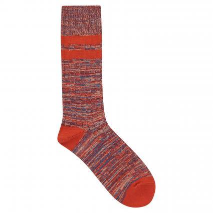 Socken mit All-Over Muster orange (25 orange) | 0