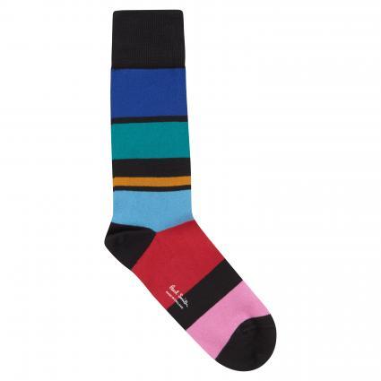 Socken mit Blockstreifen schwarz (79 black block) | 0