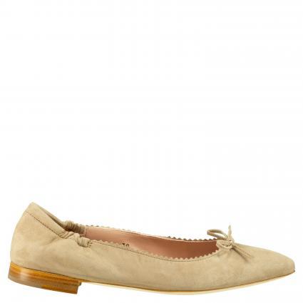 Ballerina aus Leder mit Schleifendetail beige (CAM BEIGE 4047) | 38
