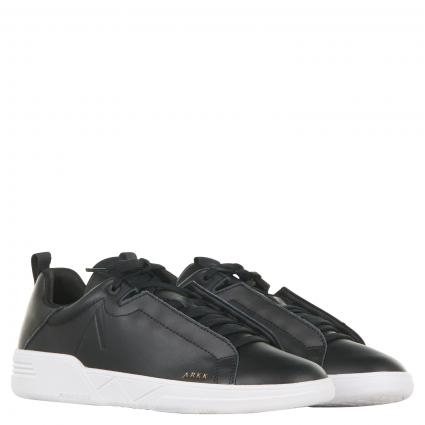 Sneaker aus Leder schwarz (Black) | 45