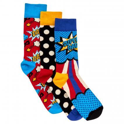 Socken Set in Geschenkbox rot (4300 father´s day) | 41-46