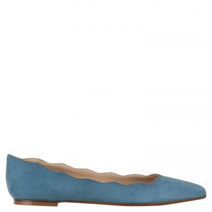 Ballerina mit Wellkante blau (AMALFI SKY BLUE) | 41
