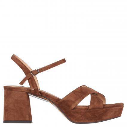 Sandaletten aus Veloursleder braun (MARRON) | 38