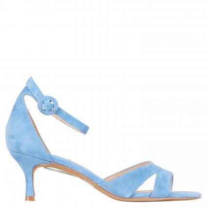 Sandaletten aus Veloursleder blau (AZUL DENIM) | 37
