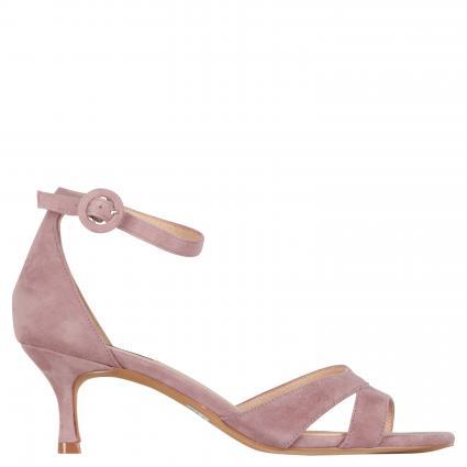 Sandaletten aus Veloursleder taupe (MALVA) | 39