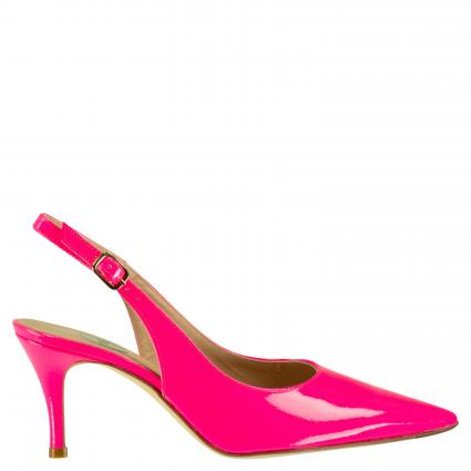 Sling Pumps aus Lackleder divers (FLUOR FUCSIA) | 39,5