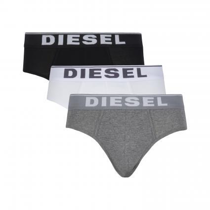 3-er Pack Slips grau (E3843 grey/white/black) | S