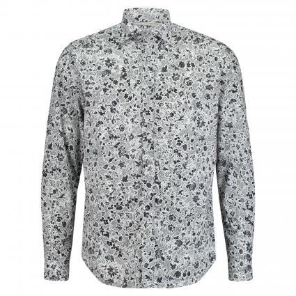 Casual-Hemd mit Musterung schwarz (09 Black) | 39