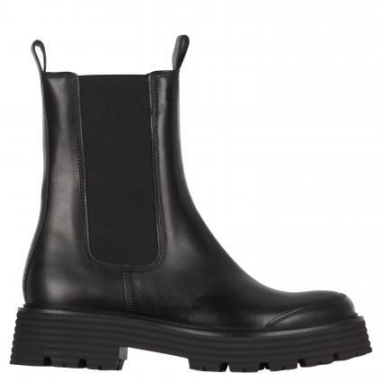 Boots aus Leder schwarz (SCHWARZ SS) | 6