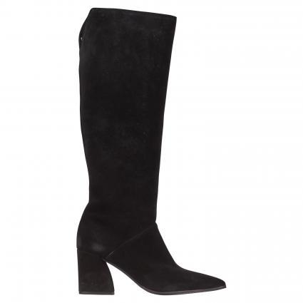 Stiefel aus Leder schwarz (SCHWARZ) | 7,5