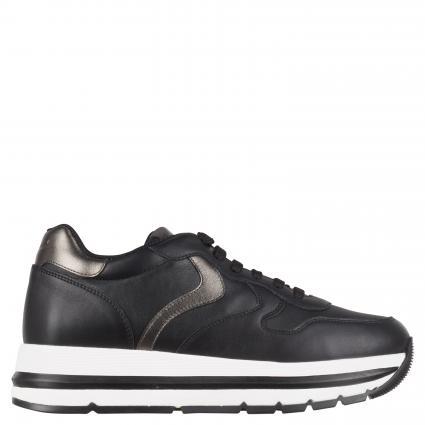 Sneaker 'Maran' aus Leder schwarz (NERO-ACCIAIO) | 36
