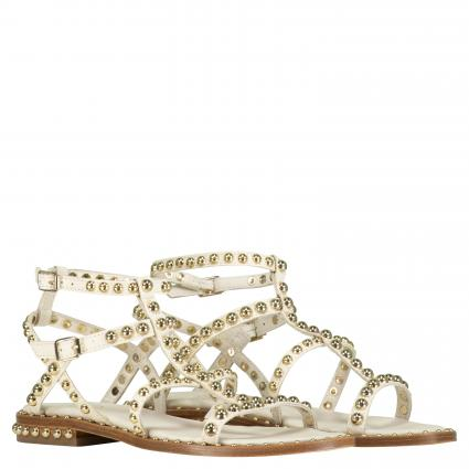 Sandale aus Leder mit Nietenbesatz ecru (IVORY/ARIEL STUD)   39