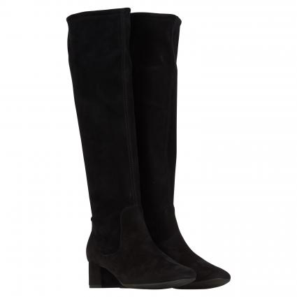 Stiefel aus Leder schwarz (SCHWARZ SUEDE) | 4,5