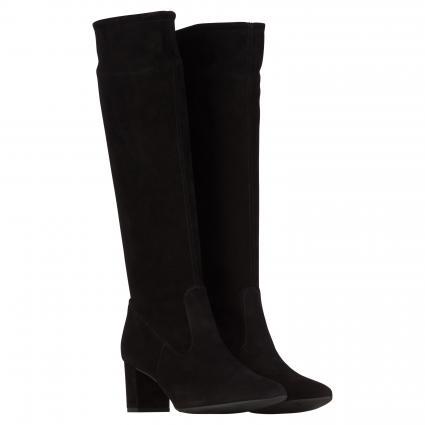 Stiefel aus Leder schwarz (SCHWARZ SUEDE) | 6,5