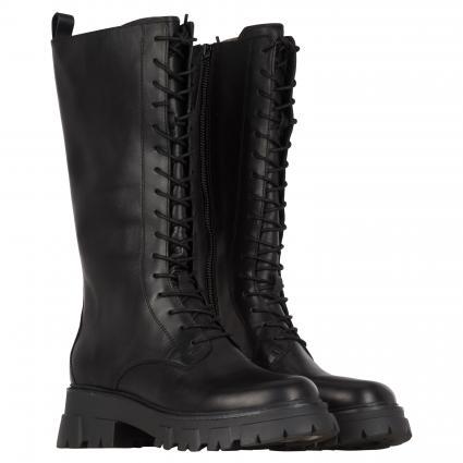 Stiefel mit Schnürung schwarz (MUSTANG BLACK)   37