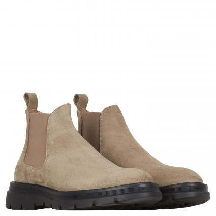 Boots aus Leder taupe (WAX TAUPE)   44