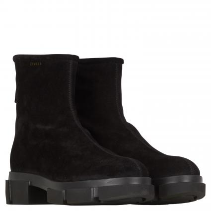 Stiefeletten aus Leder schwarz (CROSTA BLACK) | 39