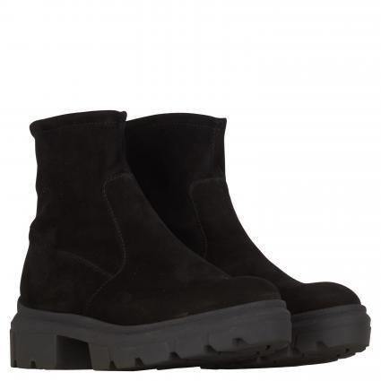 Boots aus Leder schwarz (SCHWARZ SUEDE) | 6,5