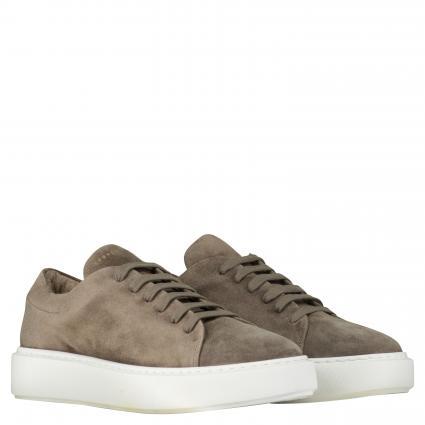 Sneaker aus Leder taupe (CROSTA TAUPE)   41