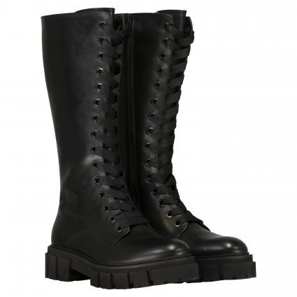 Stiefel aus Leder schwarz (SCHWARZ SS) | 3,5