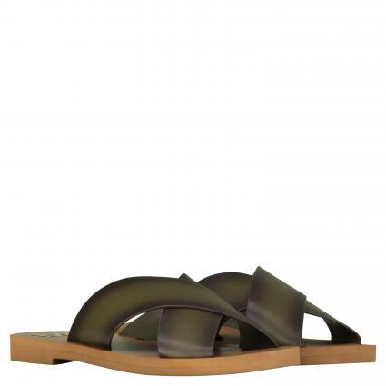 Sandale 'Glenda' aus Leder grün (333 OLIVE) | 7,5