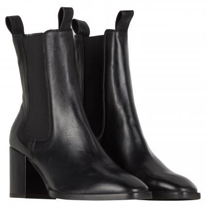 Stiefeletten aus Leder schwarz (SCHWARZ)   5,5