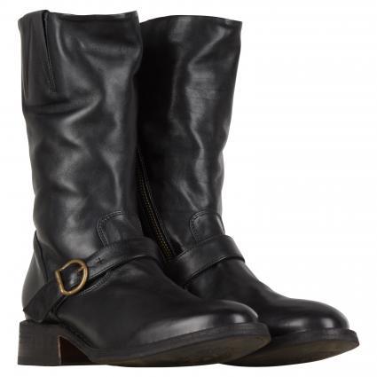 Stiefel aus Leder schwarz (KALLAX NERO) | 41