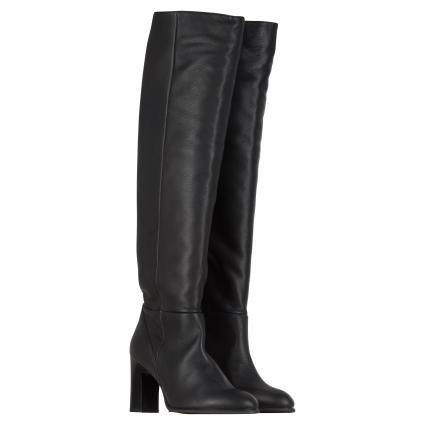 Stiefel aus Leder  schwarz (BLACK)   37