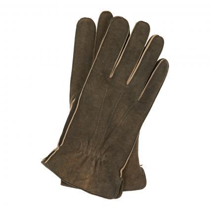 Handschuhe aus Veloursleder braun (walnuss) | 9